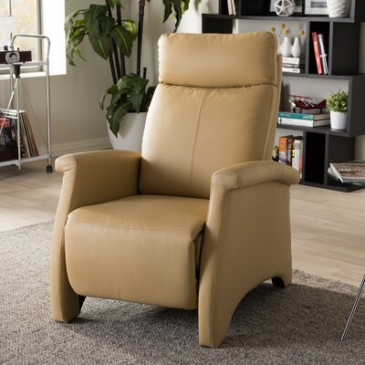Flemingdon Club Manual Recliner Upholstery: Tan