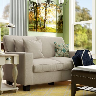 Lonnie 61 Track Arm Loveseat Upholstery: Beige