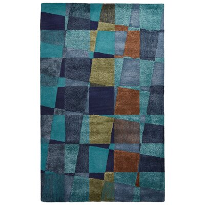 Marco Hand-Tufted Blue/Green Area Rug Rug Size: 8 x 10