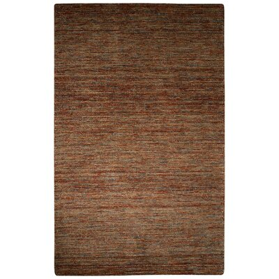Volmer Hand-Loomed Brown Area Rug Rug Size: 5 x 8