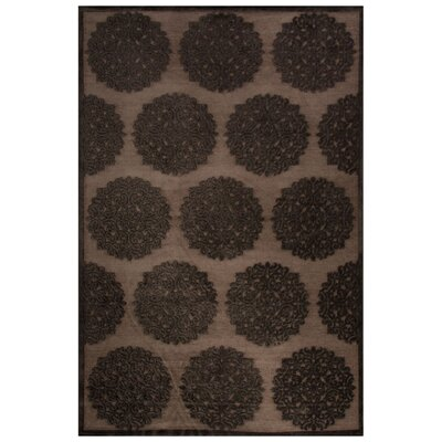 Wilbur Gray/Black Area Rug Rug Size: 2 x 3