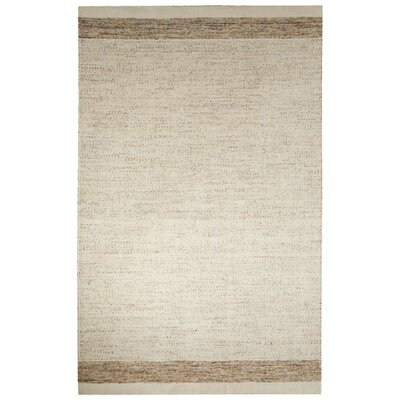 Volmer Hand-Loomed Ivory/Beige Area Rug Rug Size: Rectangle 5 x 8