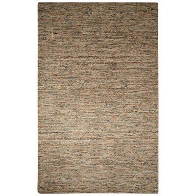 Volmer Hand-Loomed Gray/Tan Area Rug Rug Size: 5 x 8