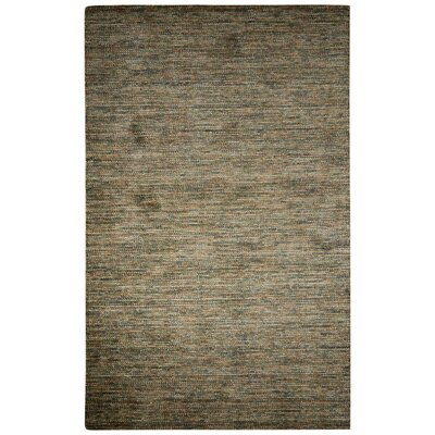 Volmer Hand-Loomed Green/Brown Area Rug Rug Size: 5 x 8