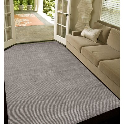 Melbourne Hand-Woven Gray Area Rug Rug Size: 10 x 12