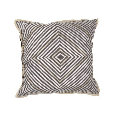 Devin Geometric Throw Pillow Color: Grey / Ivory