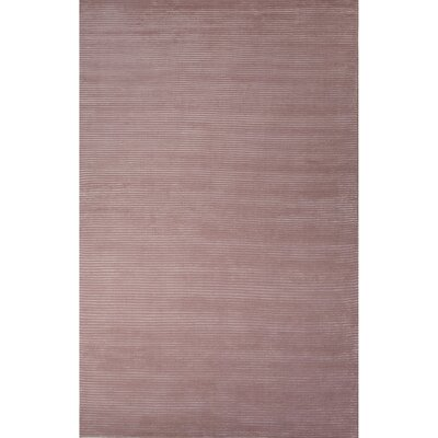 Nico Wool and Art Silk Solids/Handloom Silver Pink Area Rug Rug Size: 5 x 8