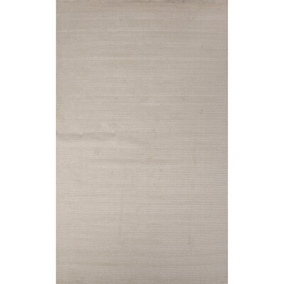 Nico Wool and Art Silk Solids/Handloom Gray Area Rug Rug Size: 8 x 10