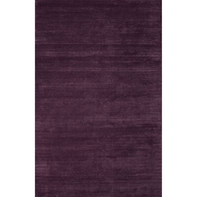 Nico Wool and Art Silk Solids/Handloom Damson Area Rug Rug Size: 8 x 10