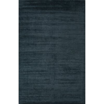 Nico Wool and Art Silk Solids/Handloom Blue Area Rug Rug Size: 5 x 8