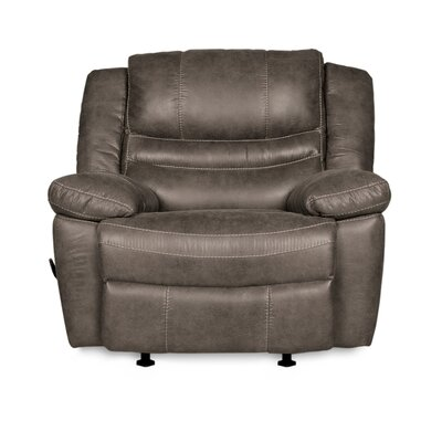 Mae Manual Rocker Recliner Upholstery: Ash Gray