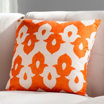Throw Pillow Color: Cream/Orange