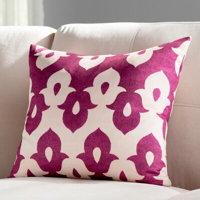 Throw Pillow Color: Violet/Peach