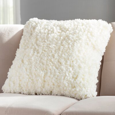 Linley Shag Throw Pillow Color: Cream