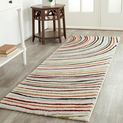 Coalcliff Ivory Area Rug Rug Size: Runner 24 x 67