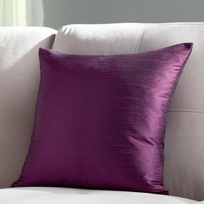 Lindfield Throw Pillow Color: Purple, Size: 18 H x 18  W
