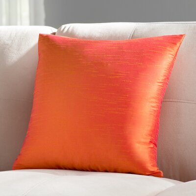 Lindfield Throw Pillow Color: Tangerine, Size: 18 H x 18  W