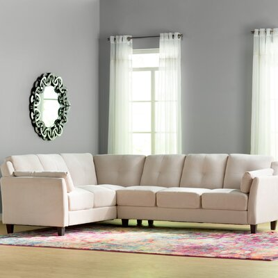 Patty Sectional Upholstery: Beige