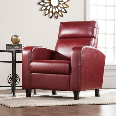 Canning 2-Step Recliner Upholstery: Red