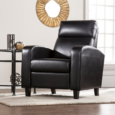 Canning 2-Step Recliner Upholstery: Black