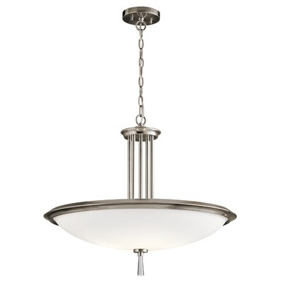 Claudia 4-Light Bowl Pendant Finish: Classic Pewter