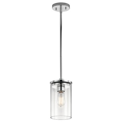 Chelsie 1-Light Mini Pendant Finish: Chrome