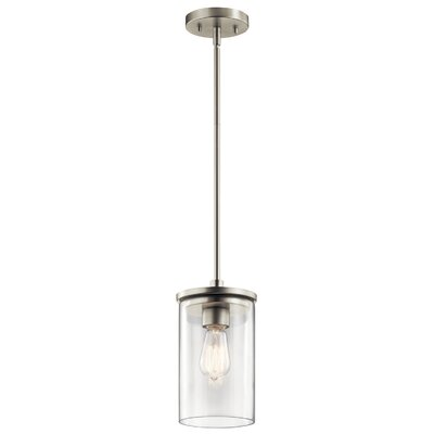 Chelsie 1-Light Mini Pendant Finish: Brushed Nickel