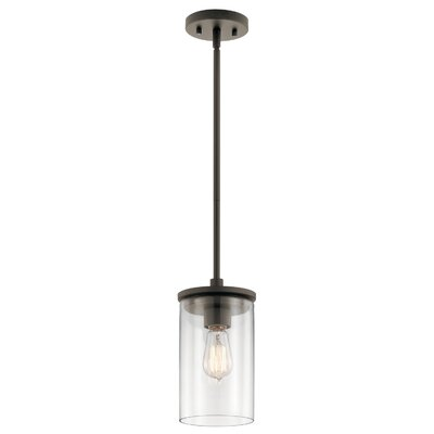 Chelsie 1-Light Mini Pendant Finish: Olde Bronze