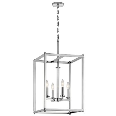 Chelsie 4-Light Foyer Pendant Finish: Chrome