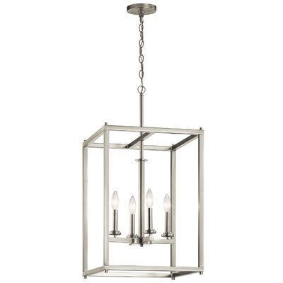 Chelsie 4-Light Foyer Pendant Finish: Brushed Nickel