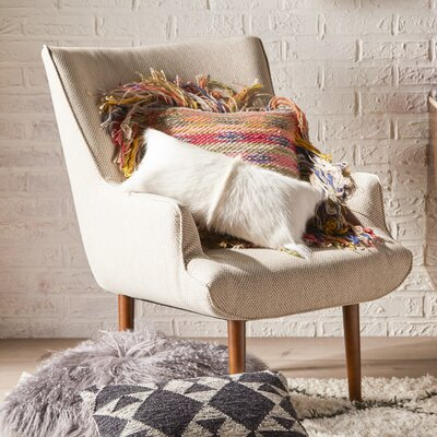 Manuel Wingback Chair and Ottoman Finish: Beige