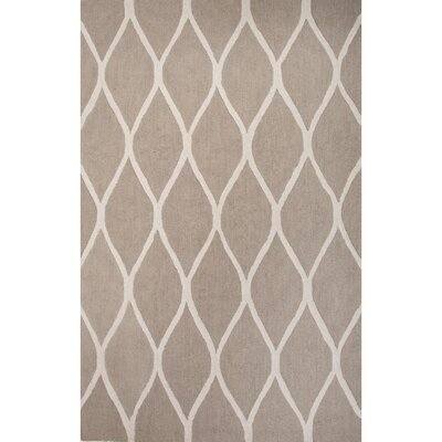 Tinkham Hand-Woven Taupe/Ivory Area Rug Rug Size: 5 x 8