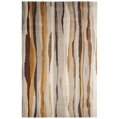 Gillian Hand-Tufted Taupe/Brown Area Rug Rug Size: 5 x 8