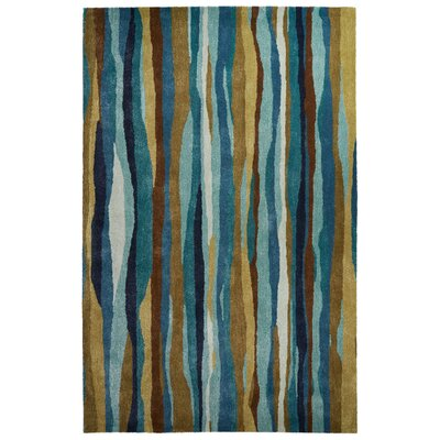 Gillian Hand-Tufted Blue/Green Area Rug Rug Size: 5 x 8