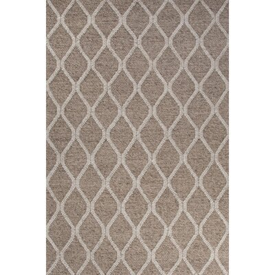 Moquin Hand-Woven Silk Beige/Ivory Area Rug Rug Size: Rectangle 2 x 3
