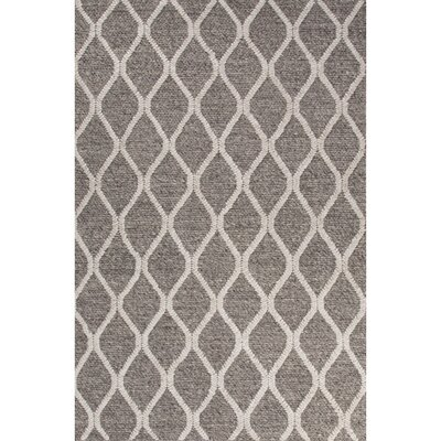 Moquin Hand-Woven Wool Dark Gray/Ivory Area Rug Rug Size: Rectangle 8 x 11