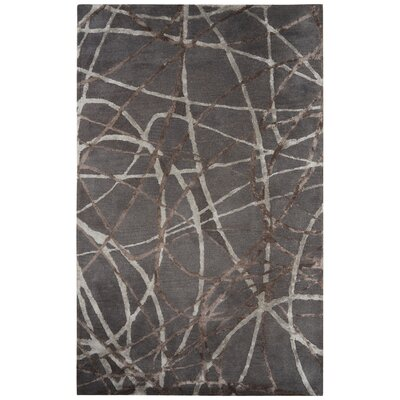 Josephine Hand-Tufted Gray/Ivory Area Rug Rug Size: 2 x 3