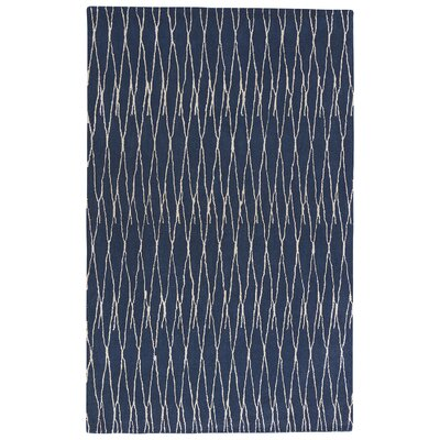 Josephine Hand-Tufted Insignia Blue/White Asparagus Area Rug Rug Size: Rectangle 5 x 8