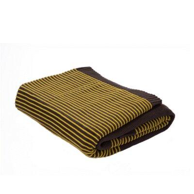 Melinda Cotton Throw Color: Grey / Yellow