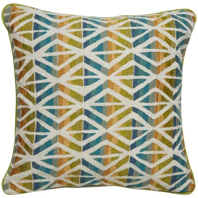 Farrah Tribal Pattern Cotton Throw Pillow Color: Ivory / Green