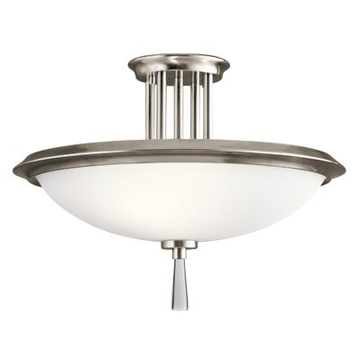 Melody 3-Light Semi Flush Mount Finish: Classic Pewter