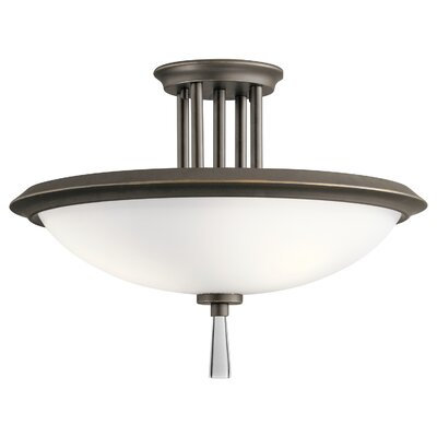 Melody 3-Light Semi Flush Mount Finish: Olde Bronze