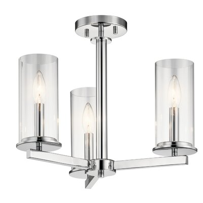 Myrie 3-Light Semi Flush Mount Finish: Chrome