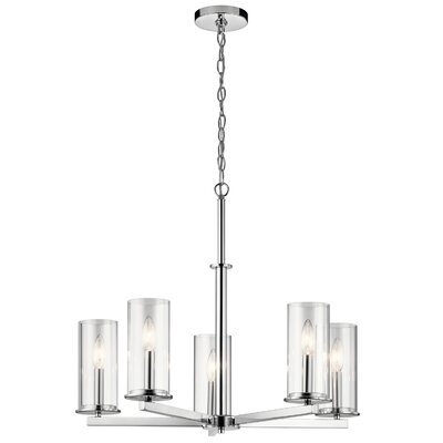 Taylor 5-Light Shaded Chandelier Finish: Chrome