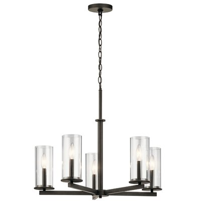 Chelsie 5-Light Shaded Chandelier Finish: Olde Bronze