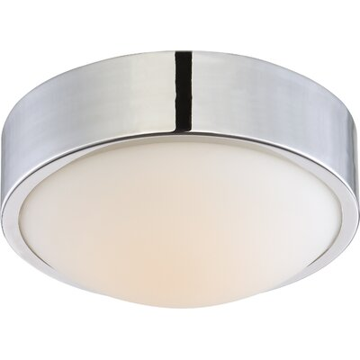 Arboles 1-Light LED Flush Mount Finish: Polished Nickel, Size: 4 H x 9 W x 9 D
