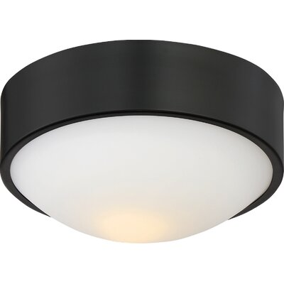 Arboles 1-Light LED Flush Mount Finish: Aged Bronze, Size: 4 H x 9 W x 9 D