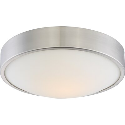 Arboles 1-Light LED Flush Mount Finish: Brushed Nickel, Size: 4 H x 13 W x 13 D