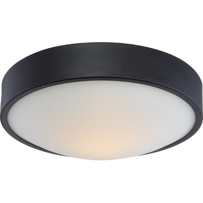 Arboles 1-Light LED Flush Mount Finish: Aged Bronze, Size: 4 H x 13 W x 13 D