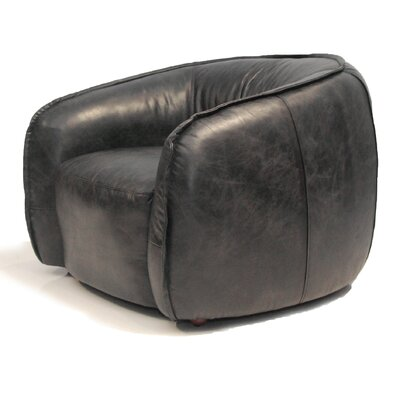 Tanya Barrel Chair Upholstery: Antique Black